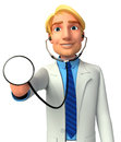 Young doctor d rendered illustration of Stock Photos