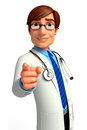 Young doctor d rendered illustration of Stock Photo