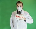 Young doctor with Ebola sign Royalty Free Stock Photo