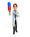 Young doctor with medicine d rendered illustration of Stock Photo