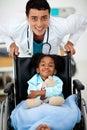 Giovane medico malato