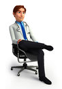 Young doctor is sitting on the chair d rendered illustration of Stock Images