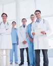 Young doctors standing together at hospital Royalty Free Stock Photos