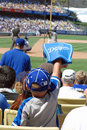 Young Dodgers Fan Royalty Free Stock Photo