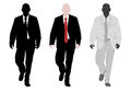 Young elegant businessman silhouette and illustration Stock Photo