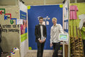 Young enterprise day stand photos of exhibition the annual county fair for youth enterprises was held in rakkestad hall to march Royalty Free Stock Images
