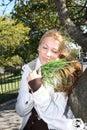 Young environmentalist girl Stock Photos