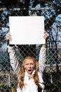 Young environmentalist girl Royalty Free Stock Images