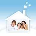 Young family daughter house Royalty Free Stock Photo