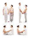 Young family expecting a baby pregnant mother and loving father collection relations concept Stock Image