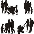 Young family (vector) Royalty Free Stock Photo