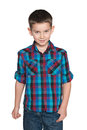 Young fashion boy Royalty Free Stock Photo