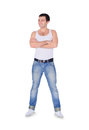 Young fashion man standing over white background Stock Photography