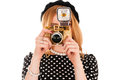 Young fashion photographer with camera Royalty Free Stock Photo