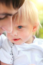 Young Father and Child Royalty Free Stock Photo