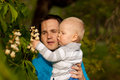Young father with his awasome small kid Royalty Free Stock Images