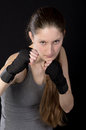 Young female boxer Stock Image