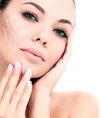 Young female with clean fresh skin Royalty Free Stock Images