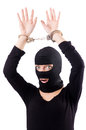 Young female criminal with handcuffs Stock Photography