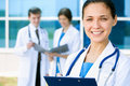 Young female doctor Stock Images