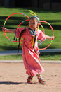 Young Female Hoop Dancer Royalty Free Stock Photography