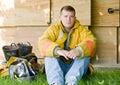 Young Fireman Royalty Free Stock Photo