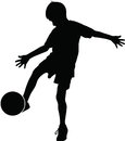 Young football player Royalty Free Stock Photo