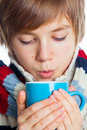 Young frozen teenager in winter style Royalty Free Stock Images