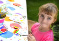 Young Girl Artist Painting Royalty Free Stock Photo