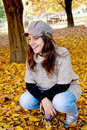 Young girl and autumn Stock Photo