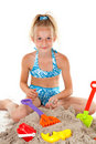 Young girl in beach wear Royalty Free Stock Images