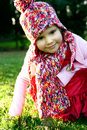 Young girl in beautiful autumn clothing Royalty Free Stock Images