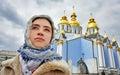 Young girl believer kiev ukraine Royalty Free Stock Image