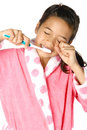 Young girl brushing her teeth Royalty Free Stock Images