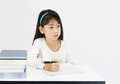 Young girl in classroom Royalty Free Stock Photo