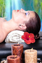 Young girl does spa treatments beautiful Stock Photography