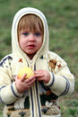 Young Girl Eating an Apple Stock Images