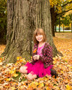 Young Girl Enjoying Autumn Royalty Free Stock Images