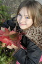 Young girl in the Fall Stock Images
