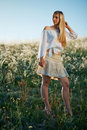 Young girl in field Stock Image
