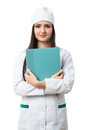 Young girl with a folder intern Royalty Free Stock Photo