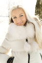 Young girl forest winter Royalty Free Stock Photo