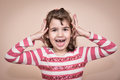 Young girl gesticulating Royalty Free Stock Photo
