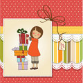Young girl with gifts Stock Images