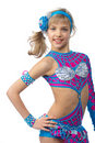 Young girl gymnast Stock Photos