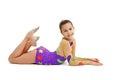 Young Girl Gymnast Royalty Free Stock Photos