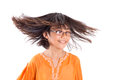 Young girl having hair fun iii asian malay with her wearing a traditional malay dress the baju kurung Stock Images
