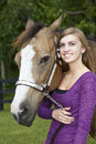 Young Girl and Horse Royalty Free Stock Photography