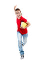 Young girl jumping Stock Image