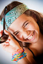 Young girl laughing Royalty Free Stock Photo